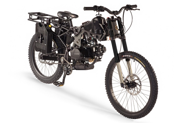 motoped black ops survival bike front