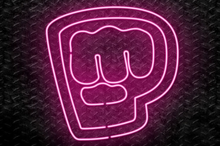 brofist neon sign