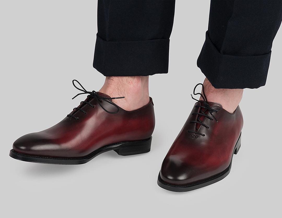 blablack oxfords and brown whole cuts shoe outlook
