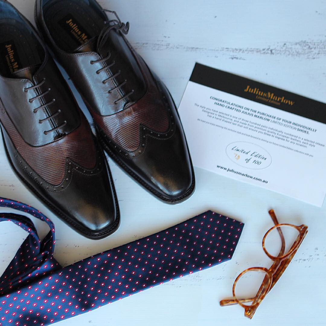 julius marlow shoe with tie sun glass