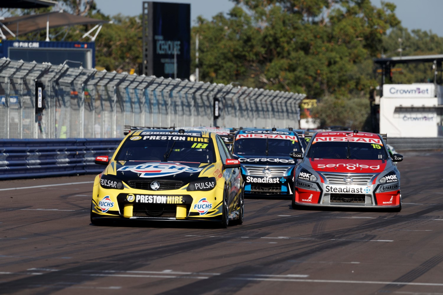 supercars championship cars on the ground