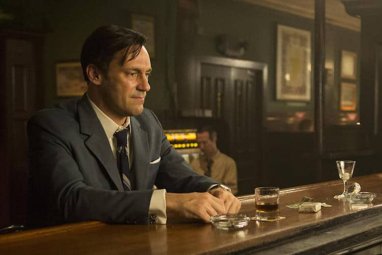 Don Draper (Jon Hamm) faces personal and professional upheaval in the final season of Mad Men.</em