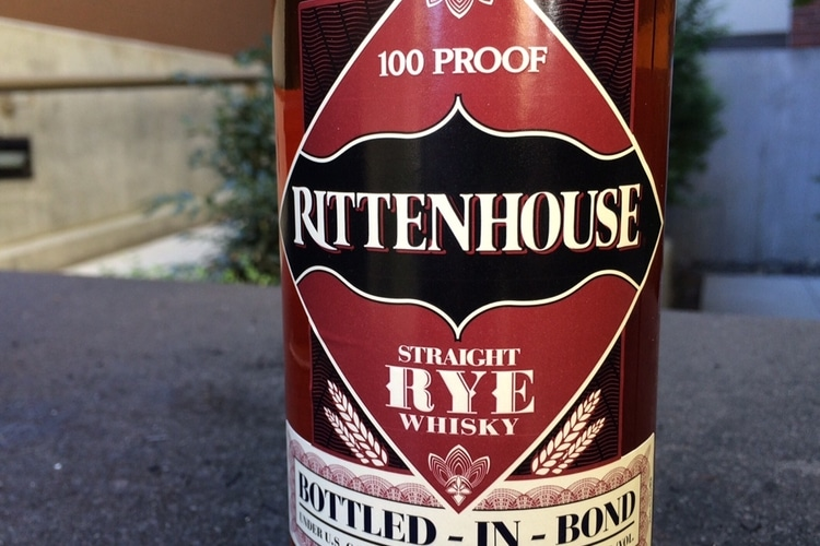 rittenhouse straight rye whisky bottle n bond