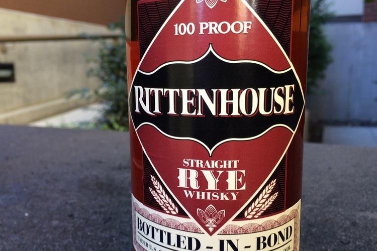 rittenhouse straight rye whisky bottle n bond