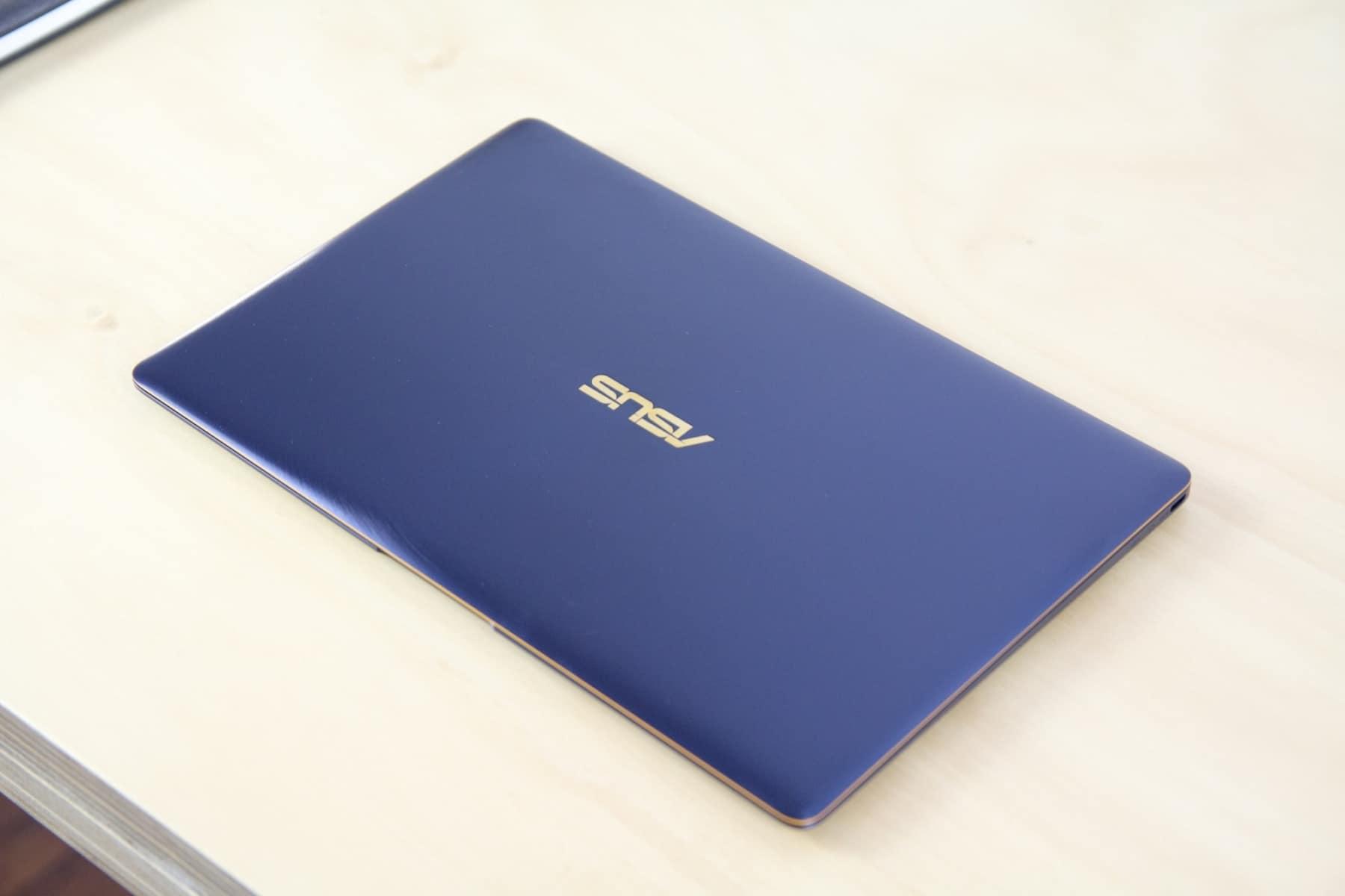 asus zenbook 3 blue flat outlook