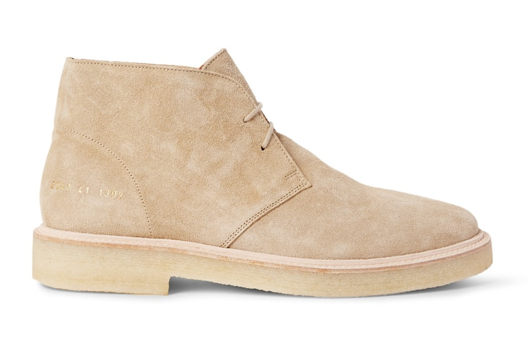 common projects suede desert smart boot