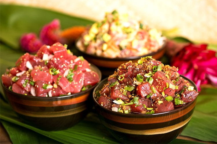 poke healthy and tasty foods