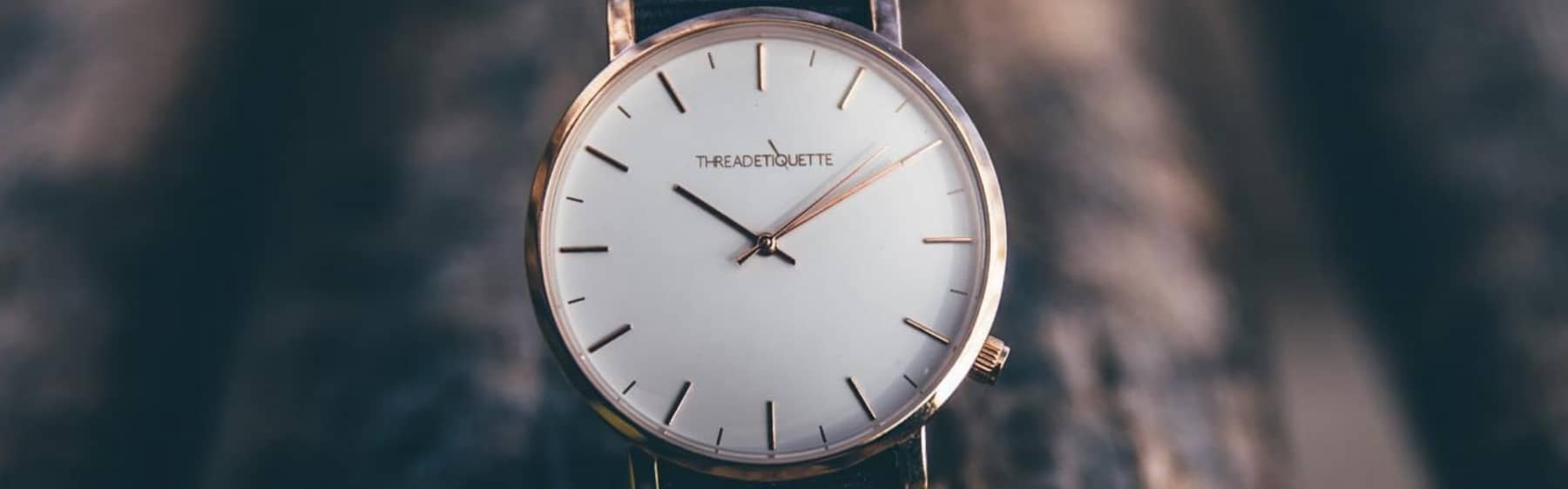 thread etiquette watch rose gold