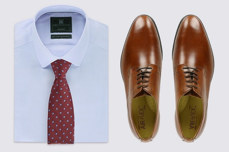 melbourne cup shoes and white shirt