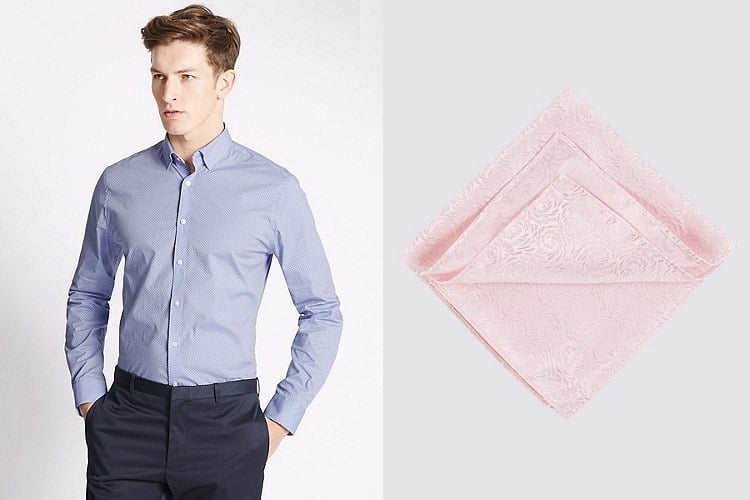 melbourne cup shirt pocket and pocket square