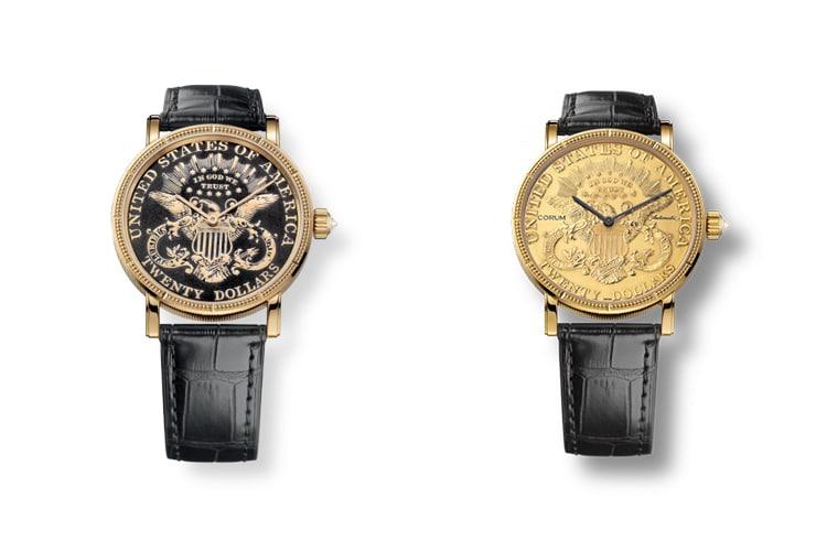 corum coin type watch