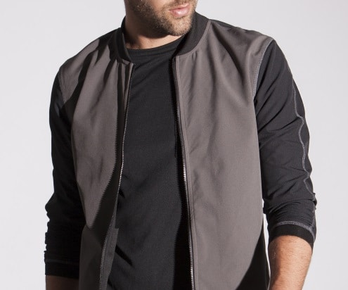 strongbody apparel gastown bomber jacket