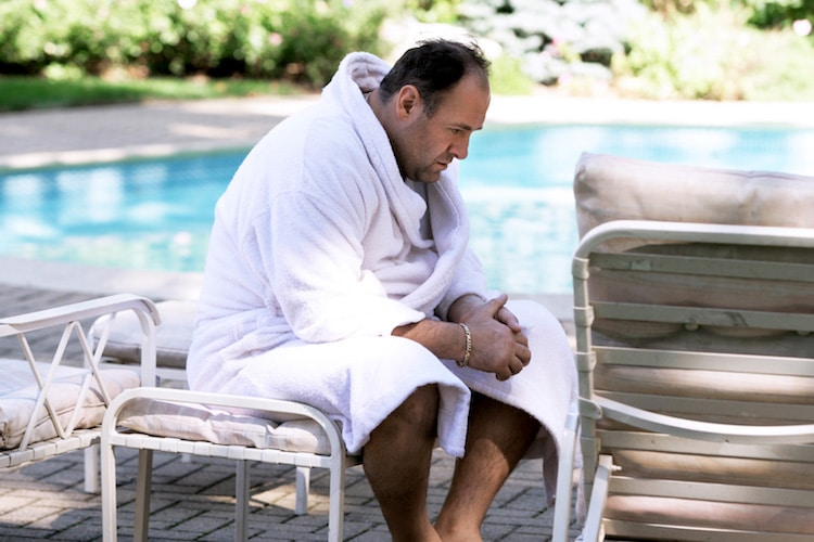 tony soprano taking bath