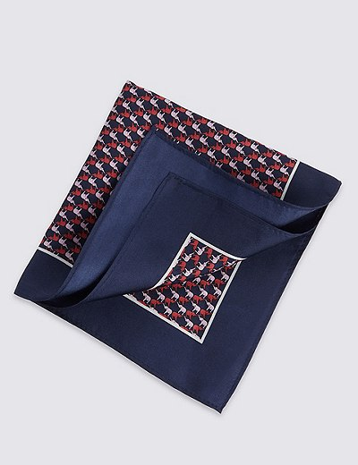 elephant pocket square
