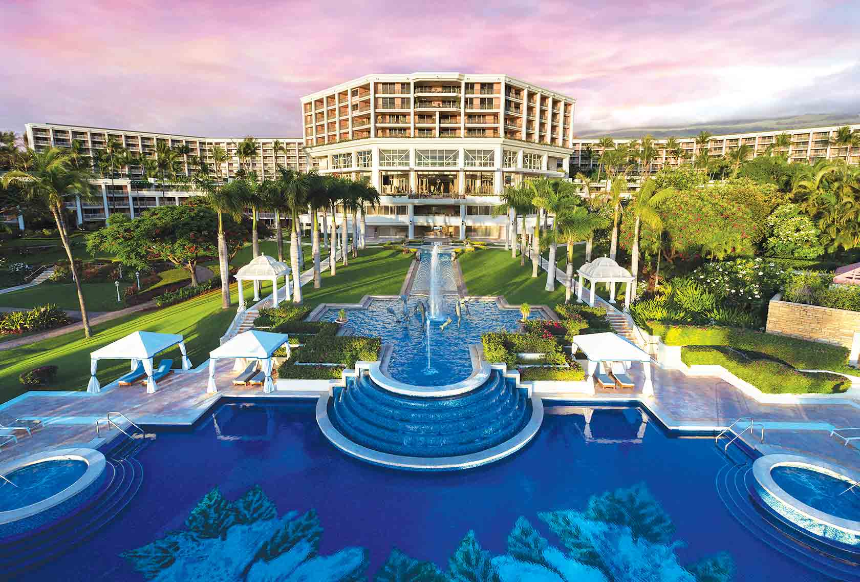 grand wailea insane hotel pool color view