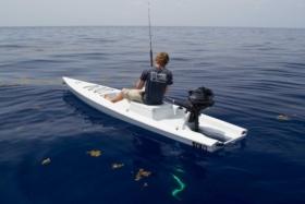 solo skiff beginning man fishing adventure