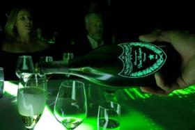 dom perignon luminous glowing bottle