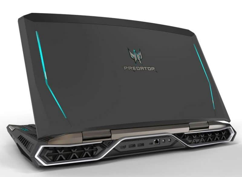 acer predator 21 x laptop back side view