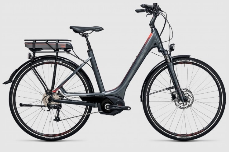 cube touring hybrid 400 electric bicycle easy entry