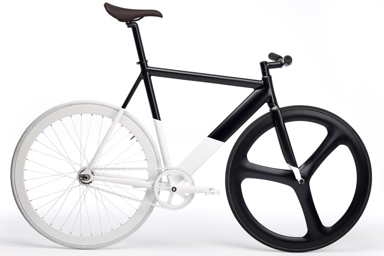 marvel design black and white bicycle