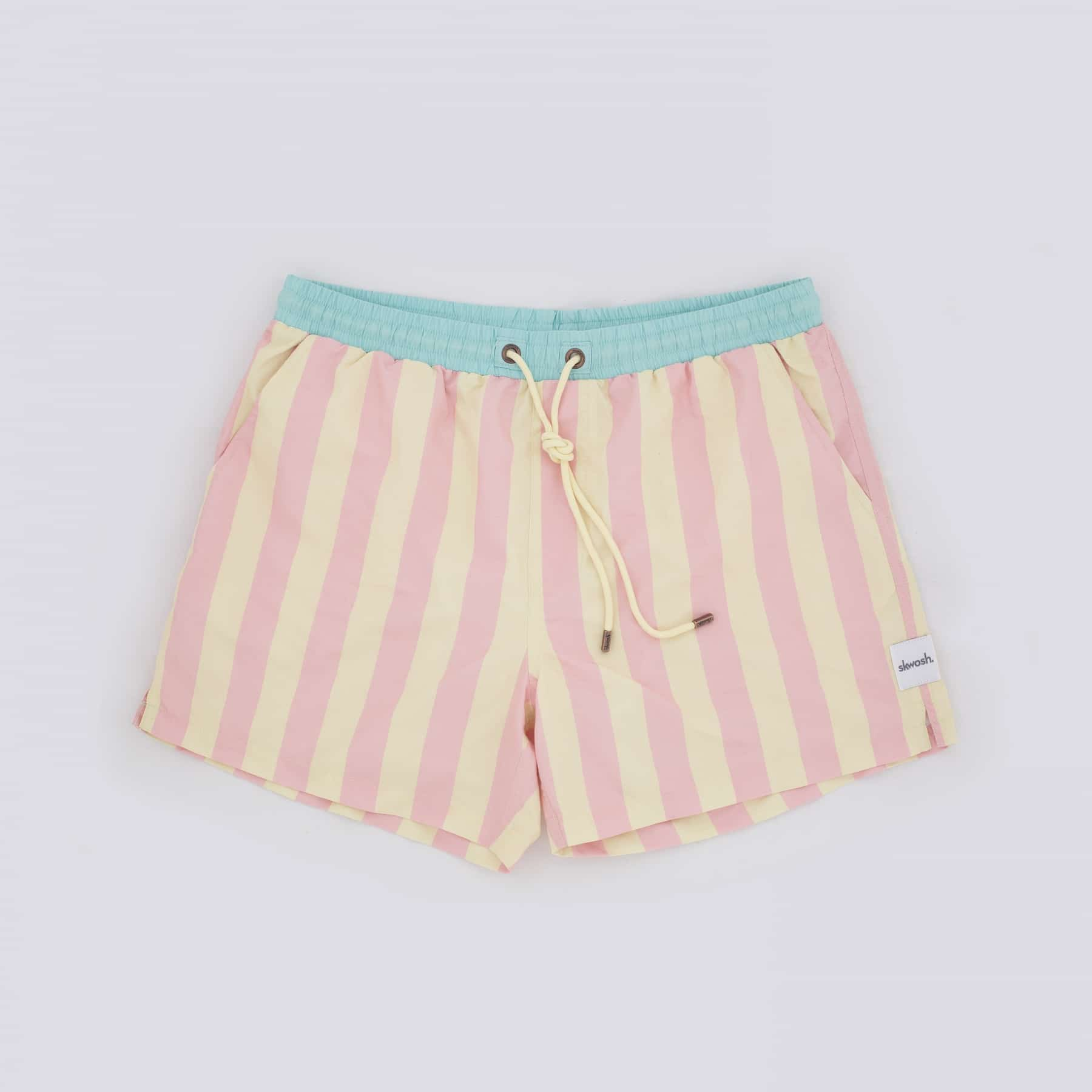 skwosh yellow red stripe shorts