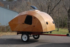 customised camping with the clc teardrop camper
