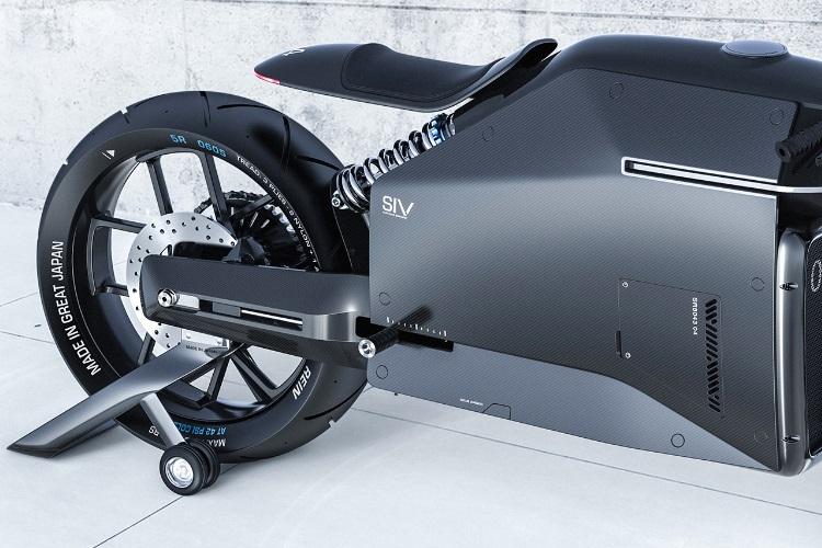 siv katana motorcycle on stand