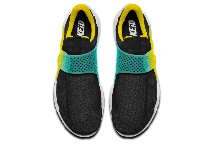 nike black yellow aqua shoes no laces