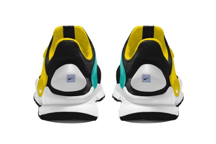 nike sneakers heel view