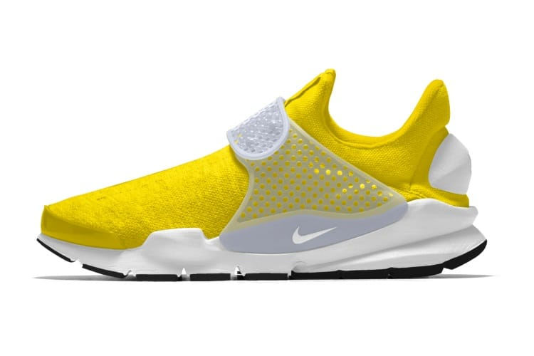 nike white yellow shoes no laces