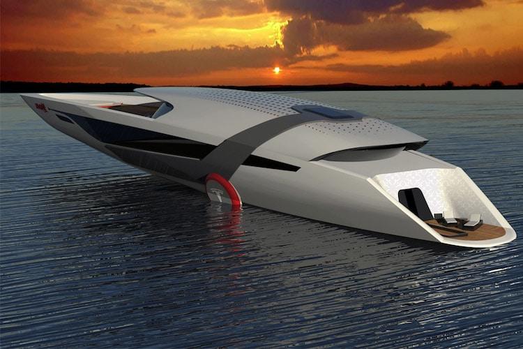 new waters tesla model y yacht