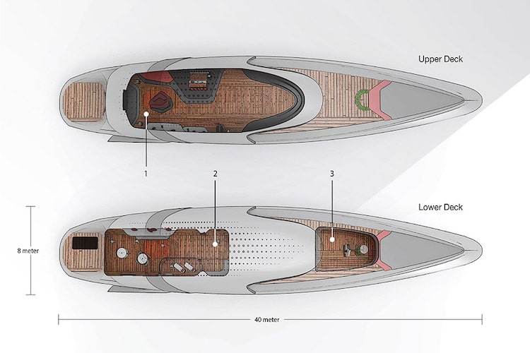 waters tesla model y yacht feature design