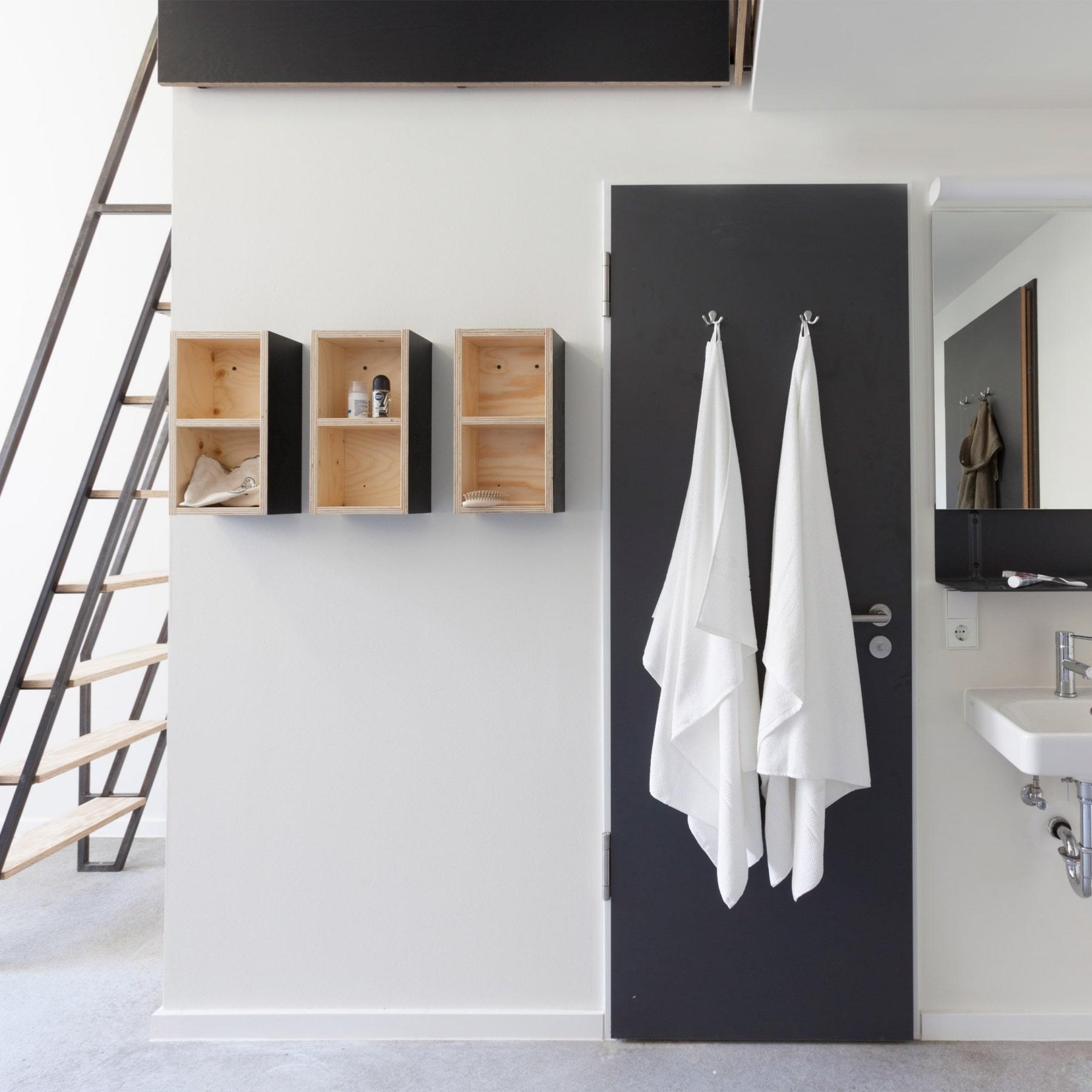dezeen dormitory towel in door