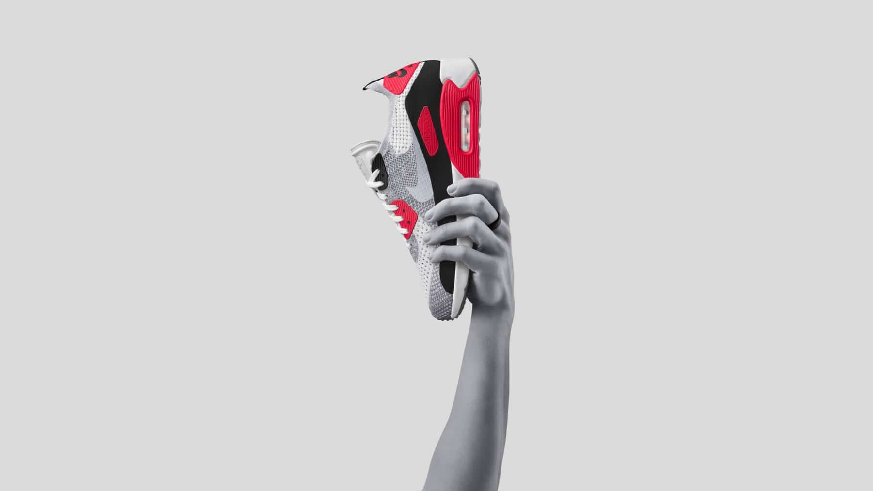 nike air max month shoe in the hand