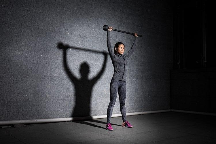 steel mace woman workout