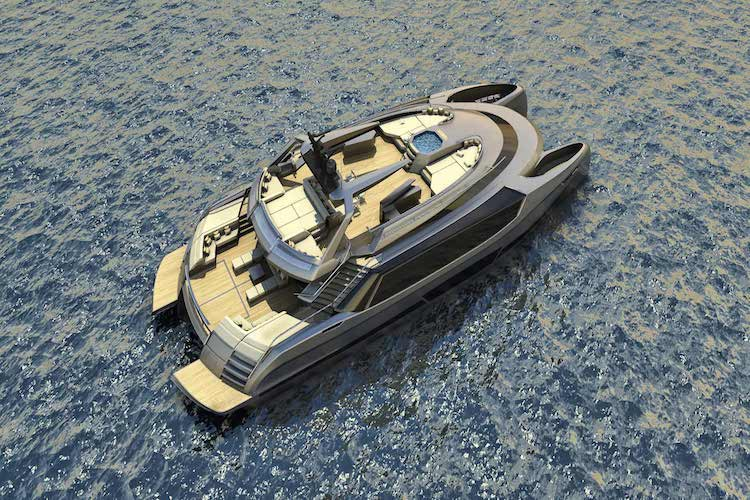 ego superyacht catamaran concept top