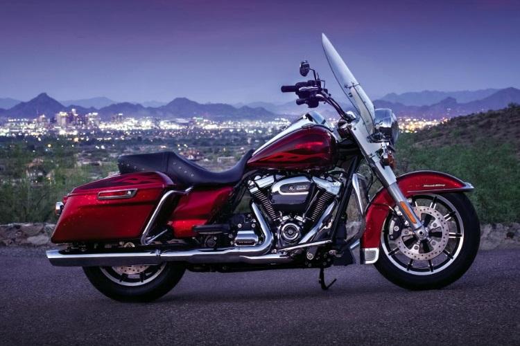 harley davidson road king motorcycle red