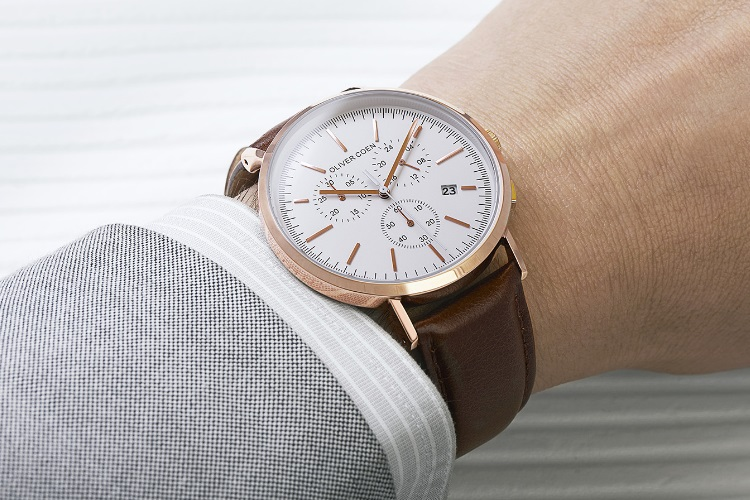 oliver coen watch rose gold