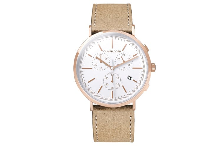 oliver coen watch brown color