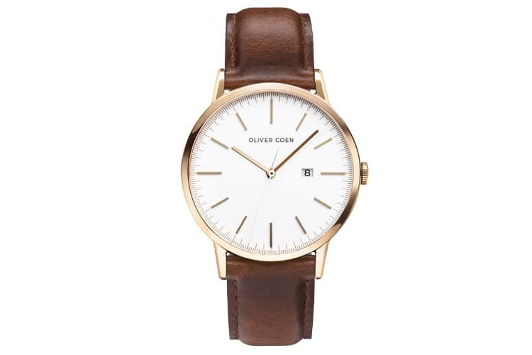 oliver coen watch gold color dials