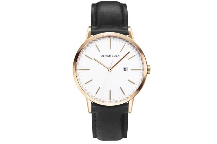 oliver coen watch gold color with black strap