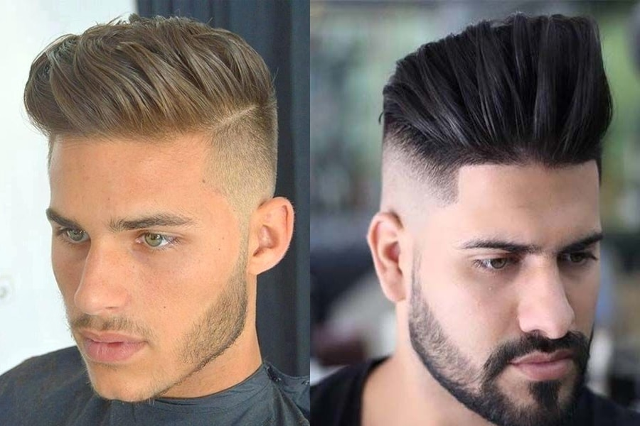 Men with short haircut hairstyle