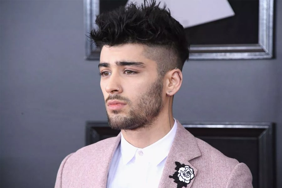 Zayn malik man with short haircut hairstyle