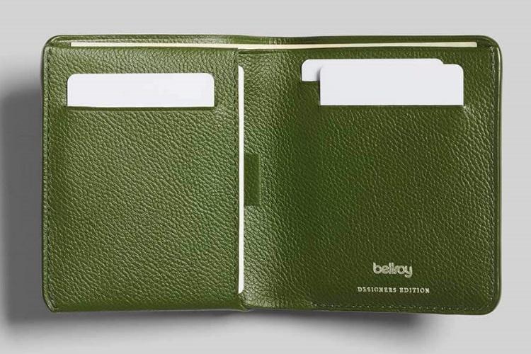 bellroy green color nice wallet