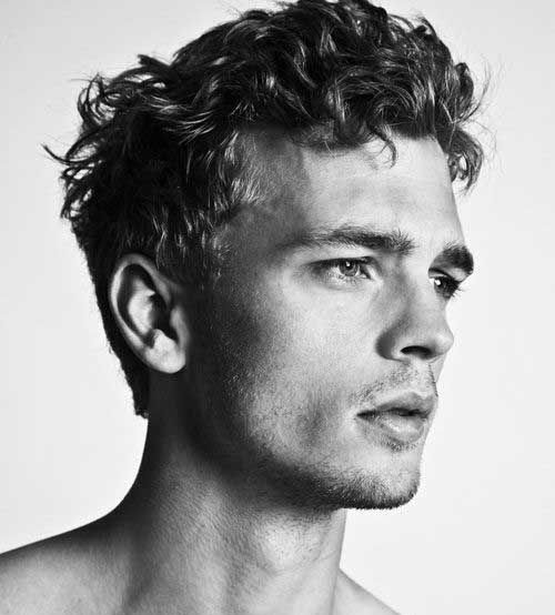 Mens Hairstyle Curly Top
