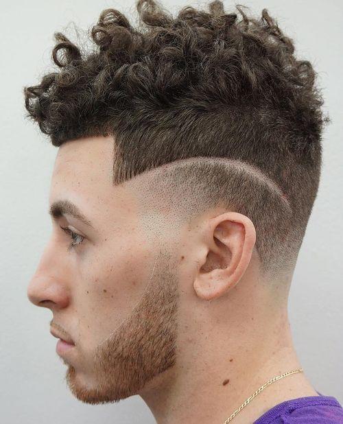 curly underside mens hairstyle