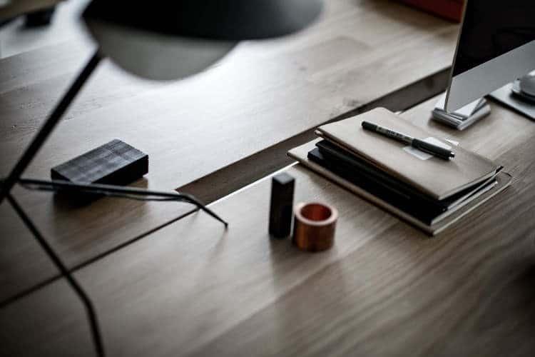 festen architecture pen notebook on table