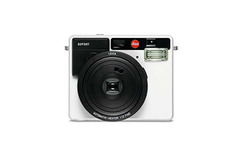 sleek and silver tech leica sofort film camera