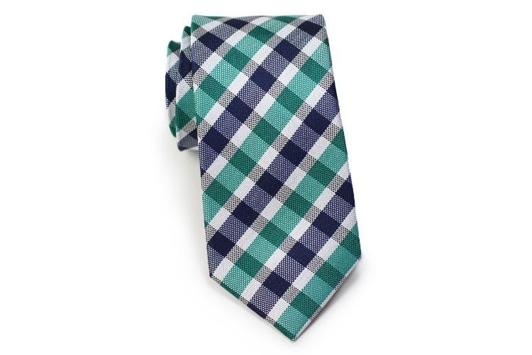 the gingham skinny tie