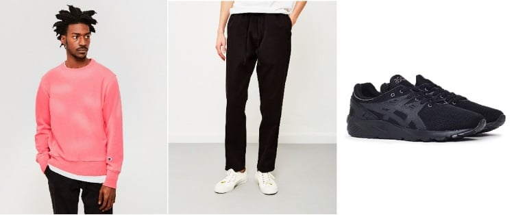 jumper trousers trainers